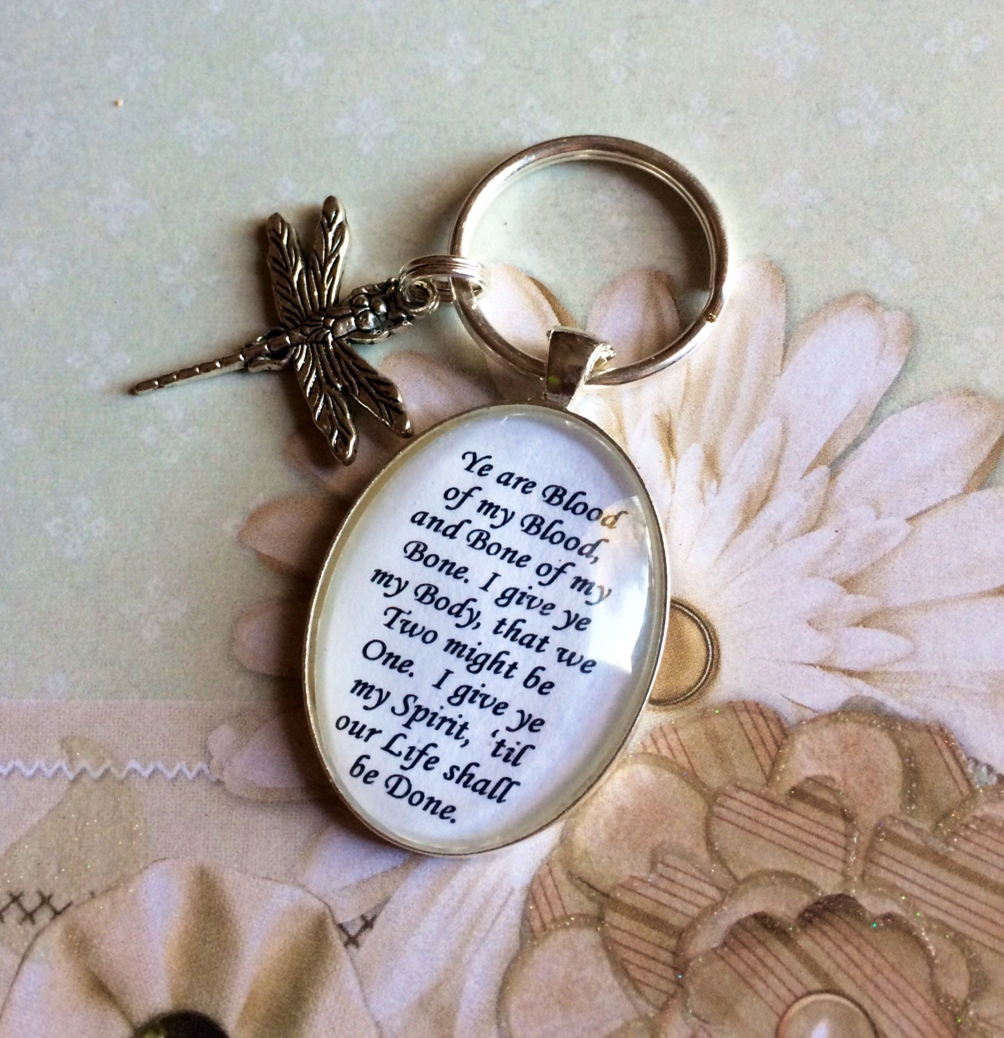 outlander blood vow keychain by enchantedelement on etsy