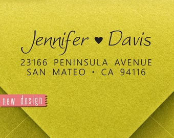 CUSTOM ADDRESS STAMP, personalized pre inked address stamp, pre inked custom address stamp, address stamp with proof, Wedding Stamp Rb5-8