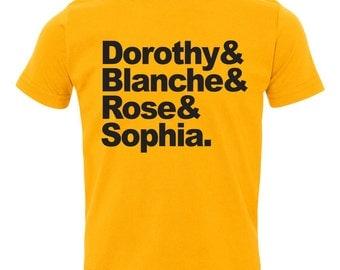 """Golden Girls """"names"""" shirt. Children's Toddler Shirt"""