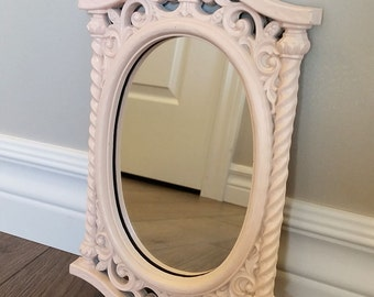 Small vintage mirror, painted light pink