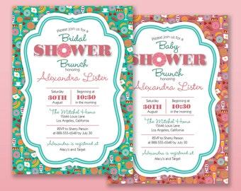Donut Brunch/Frühstück Einladung | Braut  Oder Baby Dusche, Geburtstag Party