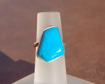 Turquoise Silver Ring Size 5