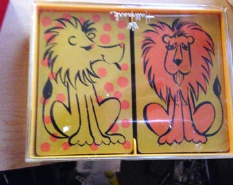 "Vintage Hallmark ""Lionhearted"" Playing Card Set"