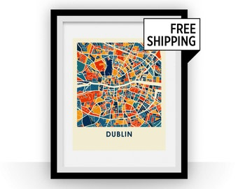 Dublin Map Print - Full Color Map Poster