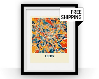 Leeds Map Print - Full Color Map Poster