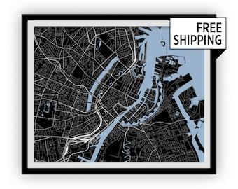 Copenhagen Map Print - Choose your color