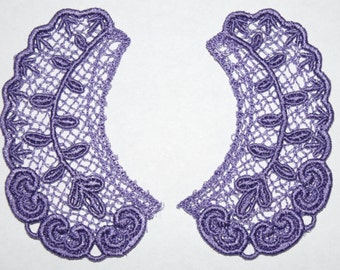 Lace Collar in VIOLET for 18 inch dolls such as American Girl #CR36