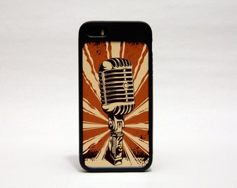 Retro iPhone 5 case, Vintage iPhone 5 case, singer iPhone 5 case, microphone iPhone 5 case retro dj iPhone 5 case band iphone 5 case P1010