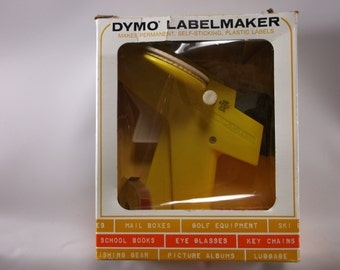 Label Maker Vintage 1970 s Mod Dymo in the original box used.epsteam