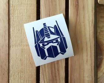 Optimus Prime Vinyl Decal Sticker