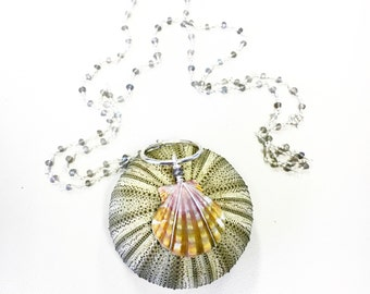 Kauai sunrise shell necklace in labradorite