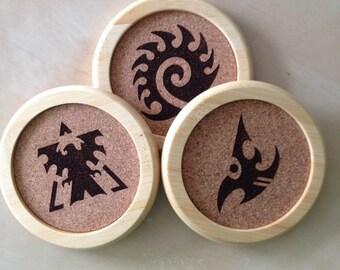 Set of 3 Starcraft Logo Coasters