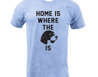 Home Is Where The Beagle Is - Athletic Blue