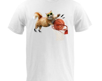 Awesome Dunking Cat - White