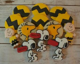 Peanuts Cookies (Charlie Brown Cookies, Snoopy Cookies)