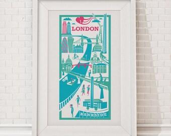 London Print / City illustration
