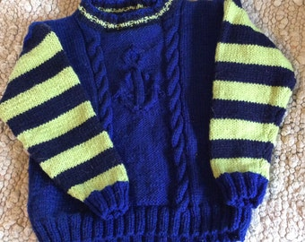 Child's Hand Knit Sweater