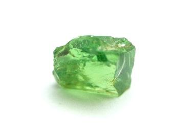Tsavorite 2.58 carat facet rough crystal very clean Tsavorite Garnet