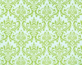 Madison Chartreuse on White - One Yard - Premier Prints Fabric - Green and White Home Decor Fabric