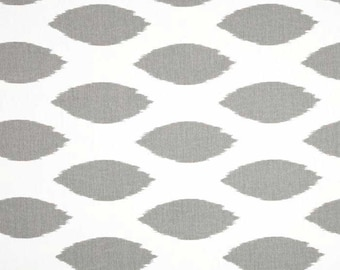 Chipper Twill Storm Premier Print Fabric - One Yard - Grey / Gray and White Home Decor Fabric