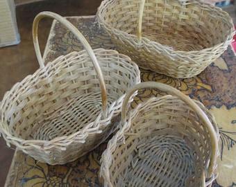 Vintage Mini Basket Trio  - from a basket collector - Estate find!