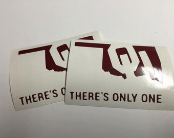 Yeti/Rtic decal window sticker There's only one OU Oklahoma University sooners