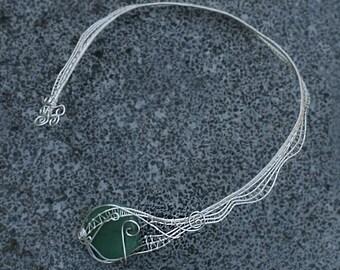 Spiderweb lace collar