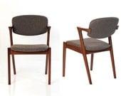 Two Kai Kristiansen Style Dining Chairs (set of 2)