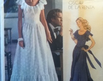 """Vogue American Designer Evening Dress Pattern 1043  Size 14,  Bust 36"""", Waist 28"""", Hip 38"""""""