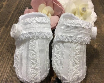 Baby boy baptism shoes white, zapatos bautizo, Christening shoes