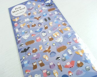 Lovely Owl Paper Sticker  - 1 Sheet