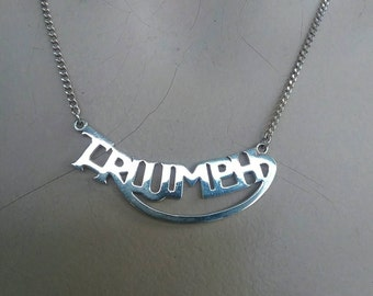 Triumph cut out sterling silver  necklace with chain