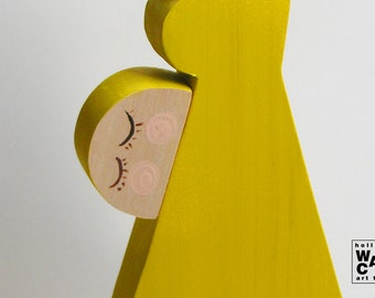Pregnant mother with baby - Big HURBANO wooden puppet