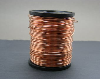 Copper wire ~ 1.25mm gauge bare copper wire ~ Antique copper wire ~ 16g copper wire ~ Jewellery supplies ~ Wire wrapping ~ Jewelry wire ~ UK