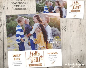 Fall Mini Session plus FREE Facebook Timeline cover INSTANT DOWNLOAD