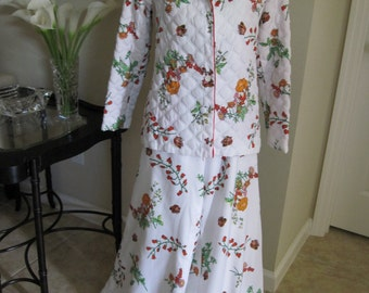 CHRISTIAN DIOR QUILTED Lounging Pajamas