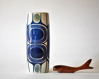 RARE Aluminia / Royal Copenhagen - tall vase - 450/3116 - Inge Lise Koefoed - collectible - Danish midcentury