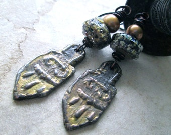 KOYASAN Urban Primitive / Rustic / Modern Nomad Dangle Earrings