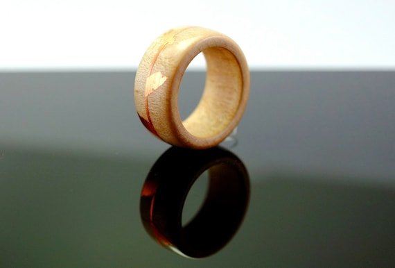 Maple and copper wooden ring