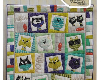Pattern ''CatFace'' Applique Quilt Pattern by Claire Turpin (CT114)