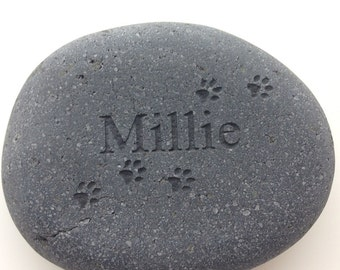 Your Pet's Name, Dog or Cat Name with Paw Prints