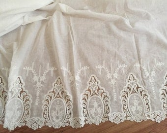 Cotton Lace Fabric with Crochet Design for Wedding, Costumes, Haute Couture ,Fabric by Yard