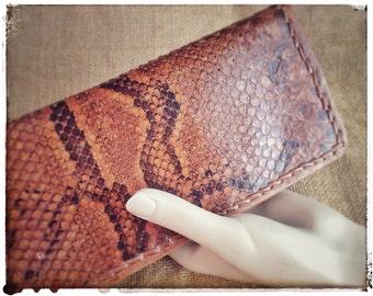Snakeskin purse, ANTIQUE SNAKESKIN hand clutch bag, snakeskin wallet from 1930s, vintage fashion accessories, Great Gatsby.