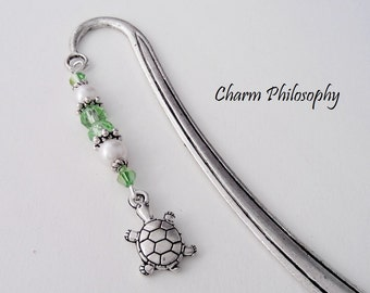 Turtle Bookmark - Tibetan Silver Stationary - Teacher Gifts - Turtle Gifts