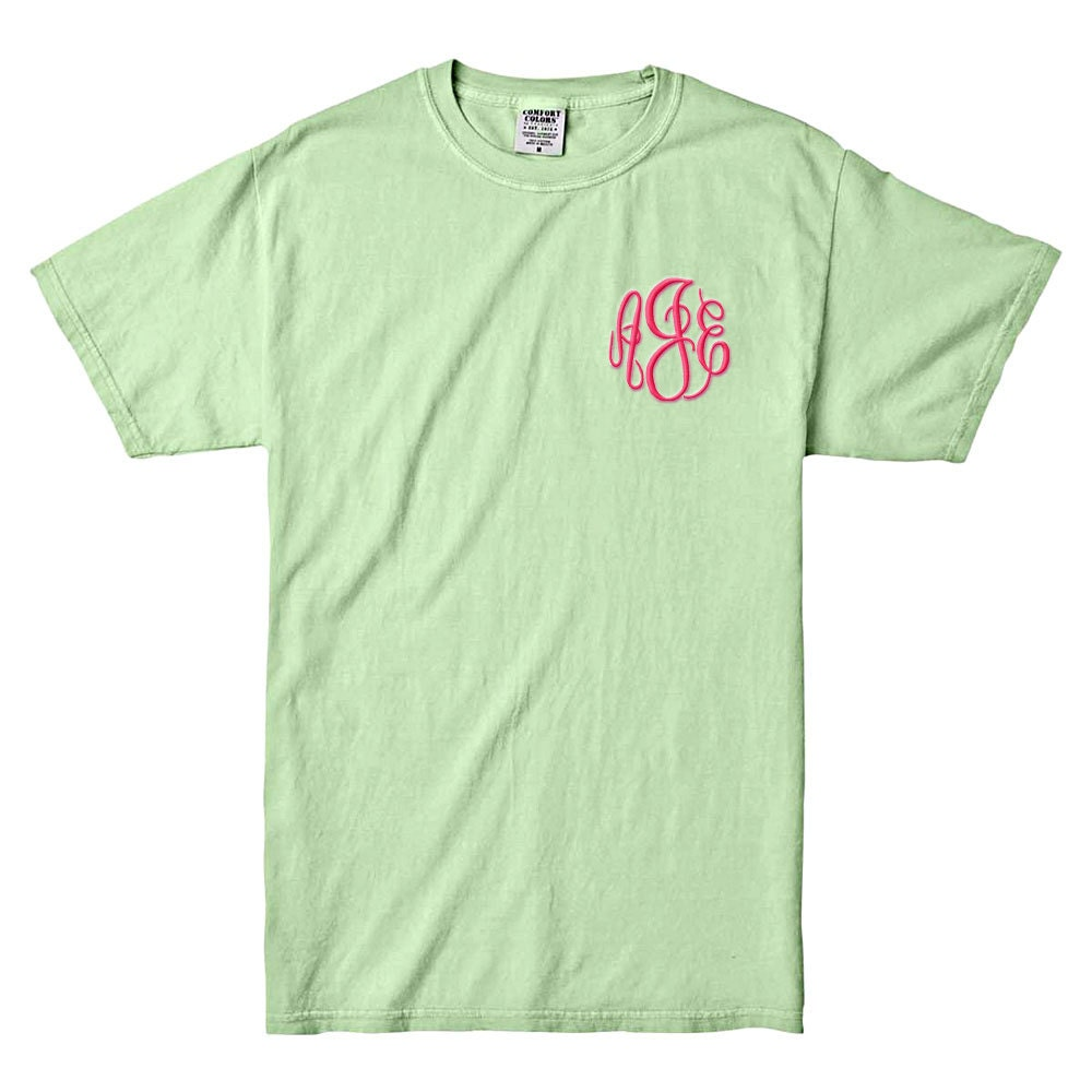 comfort colors celery green unisex short sleeve tshirt
