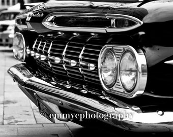 "Vintage Chevrolet Impala - Black and White 8x6"" Photo Print - UK Seller"