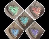 USA MADE and ready to ship! Glowing Heart of Love glow steampunk necklace glow in the dark