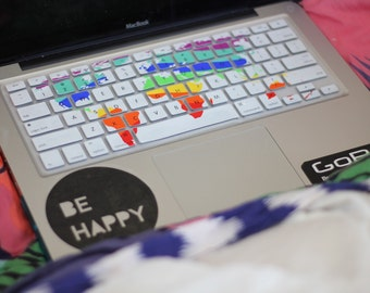 Colorful world map keyboard cover