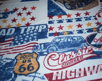 Route 66 Classic Car Pillowcase