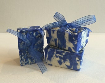 Blue and White Swirls Soap